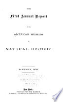 Annual Report Of The Trustees Of The American Museum Of Natural History