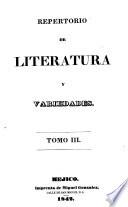 Reportorio de literatura y variedades