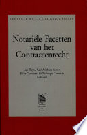 Notariële facetten van her contractenrecht