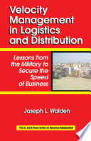 Velocity Management in Logistics and Distribution