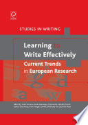 Learning To Write Effectively Current Trends In European Research