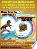 Box Set Children s Books  Horse Picture   Horse Fact Book For Kids   Snake Book For Kids