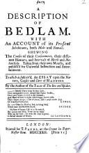 A Description of Bedlam Book PDF