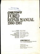 Chilton s Ford Repair Manual  1980 1987
