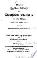 Johann Georg Hamann und Elisa von der Recke (Ausgewählte Gedichte)