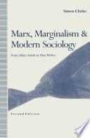 Marx  Marginalism and Modern Sociology