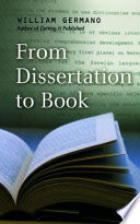 From Dissertation To Book book