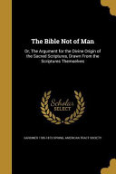 download ebook bible not of man pdf epub