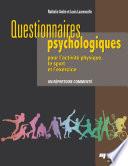 Questionnaires psychologiques pour l   activit   physique  le sport et l   exercice