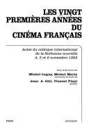 Les vingt prmières années du cinéma français