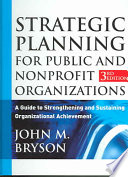 Strategic Planning For Public And Nonprofit Organizations