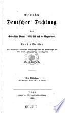 Elf Bücher deutscher Dichtung. Von Sebastian Brant (1500) bis auf die Gegenwart (etc.)