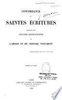 Concordance des saintes Ecritures