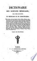 Dictionaire des sciences medicalespar une societe de medecins et de chirurgiens