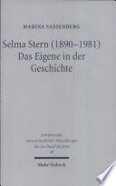 Selma Stern (1890-1981)