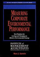 Measuring corporate environmental performance