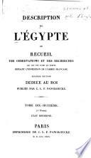 Description de l'Égypte: Etat moderne (1v.)