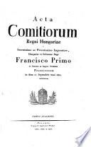 Act a Comitiorum Regni Hungariae