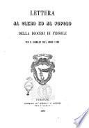 Lettera al clero ed al popolo della diocesi di Fiesole per il Giubileo dell anno 1869  Lorenzo Frescobaldi