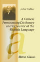 download ebook a critical pronouncing dictionary and expositor of the english language pdf epub