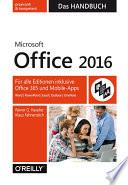 Microsoft Office 2016   Das Handbuch