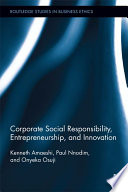 Corporate Social Responsibility  Entrepreneurship  and Innovation