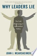 Ebook Why Leaders Lie Epub John J. Mearsheimer Apps Read Mobile