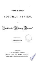 The Foreign monthly review and continental literary journal