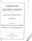 Numismatisches Legenden-Lexicon des Mittelalters und der Neuzeit
