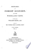 Remarks On Forest Scenery And Other Woodland Views