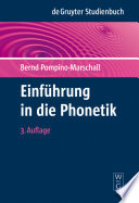 Einf  hrung in die Phonetik