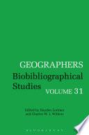 Geographers - Biobibliographical Studies
