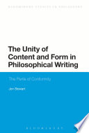 The Unity of Content and Form in Philosophical Writing