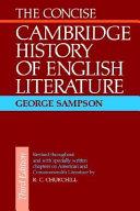 The Concise Cambridge History of English Literature