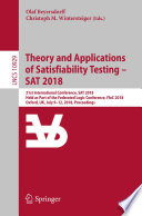 Theory and Applications of Satisfiability Testing     SAT 2018