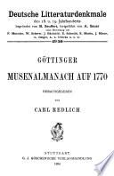 Göttinger Musenalmanach auf 1770
