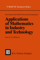 Proceedings of the Third German-Italian Symposium Applications of Mathematics in Industry and Technology