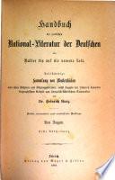 Handbuch der poetischen National Literatur der Deutschen