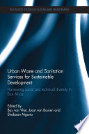 Urban Waste And Sanitation Services For Sustainable Development