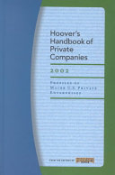 Hoover s Handbook of Private Companies 2002
