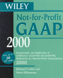 Wiley Not for Profit GAAP 2000