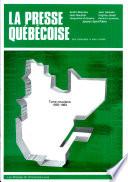 La presse québécoise, des origines à nos jours: 1955-1963