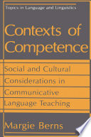 Contexts Of Competence : and for eign language teaching has...