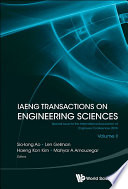 Iaeng Transactions On Engineering Sciences  Special Issue For The International Association Of Engineers Conferences 2016