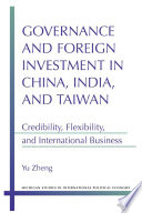 Governance and Foreign Investment in China  India  and Taiwan