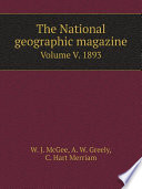 The National geographic magazine Volume v. 5 1893