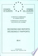 Decisions and Reports Décisions Et Rapports