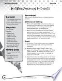 Writing Lesson Level 1 Building Sentences Details