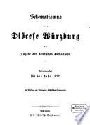 Schematismus der Diözese Würzburg