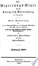 Regierungsblatt f  r das K  nigreich W  rttemberg